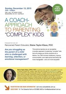 Parent seminar flyer